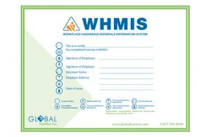 WHMIS 1988 (Before GHS) Wallet Certificates
