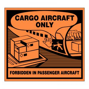 Air Cargo Only Handling Label