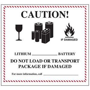 Lithium Battery Handling Labels